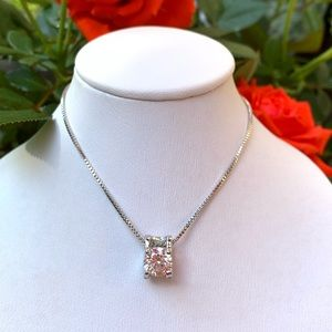 Sterling Silver 925 CZ Necklace